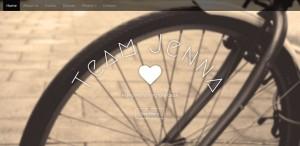 Screen shot of Team Jenna Cycling Team website