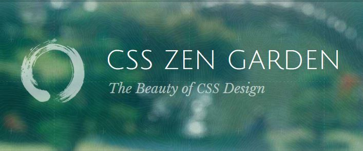 Screen shot of CSS Zen Garden website